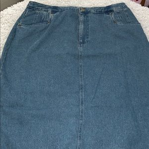 Vintage Jean Skirt by Bridgewater Plus Size 18W